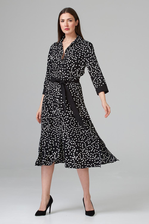 Joseph Ribkoff Robes Noir/Vanille Style 201387