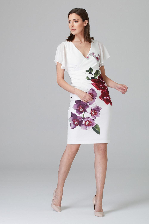 Joseph Ribkoff Vanilla/Multi Dresses Style 201398