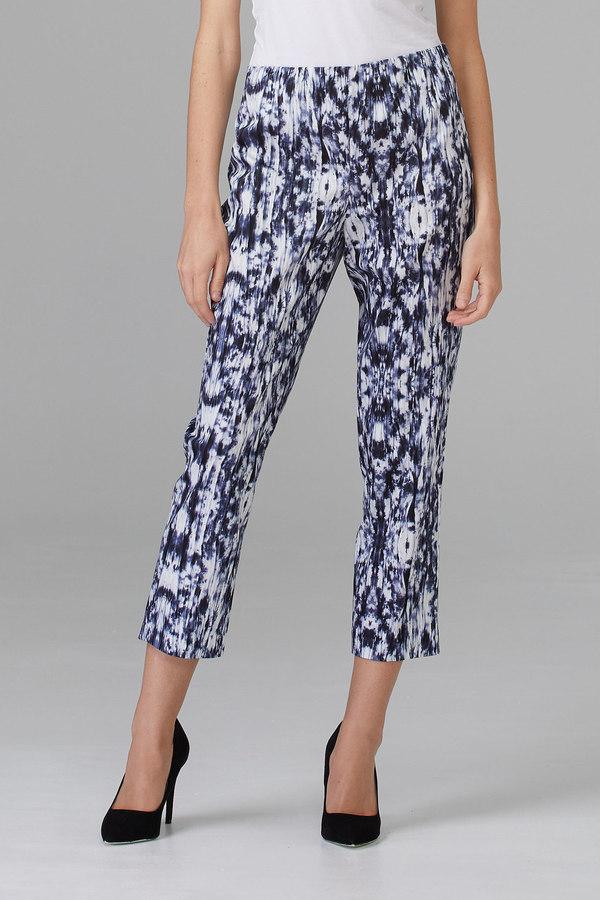 Joseph Ribkoff White/Blue/Black Pants Style 201400