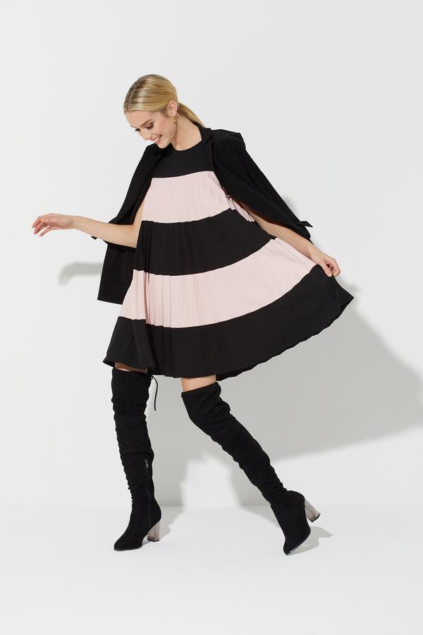 Joseph Ribkoff Robes Noir/Rosé Style 201402