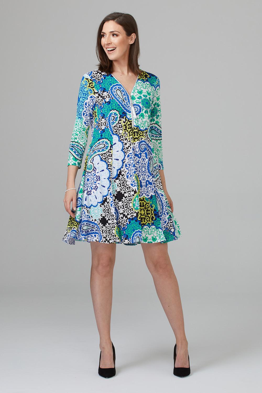 Joseph Ribkoff Blue/Multi Dresses Style 201408