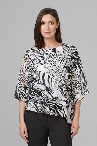 Joseph Ribkoff Chemises et blouses Noir/Blanc Style 201420