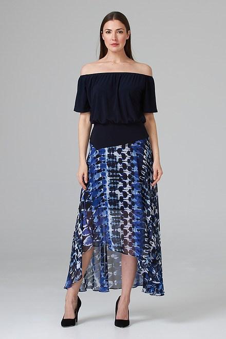 Joseph Ribkoff Robes Bleu/Noir Style 201443