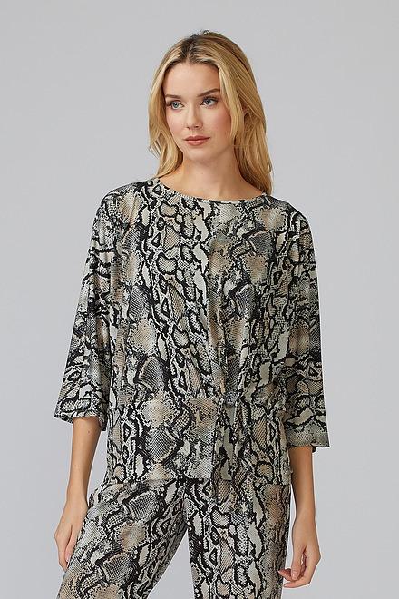 Joseph Ribkoff Beige/Black Shirts & Blouses Style 201451