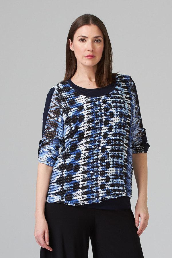 Joseph Ribkoff Tee-shirts et camisoles Bleu/Noir Style 201465
