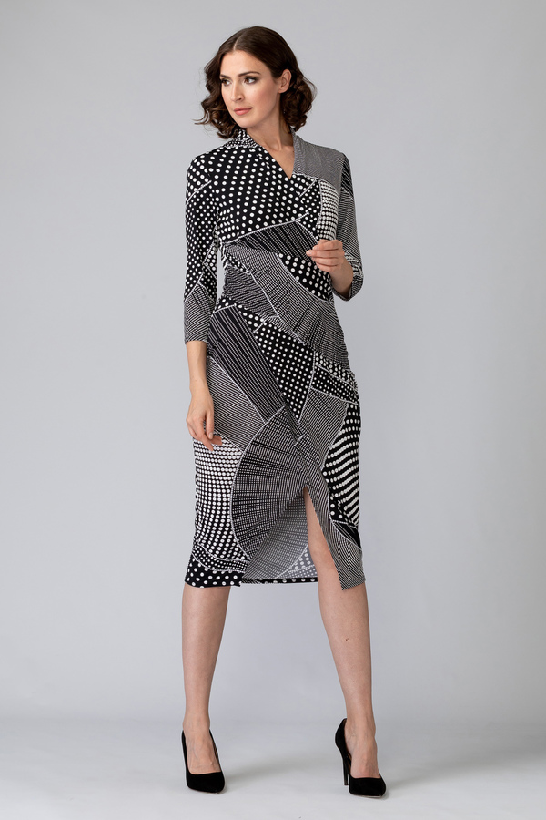 Joseph Ribkoff Robes Noir/Blanc Style 201470