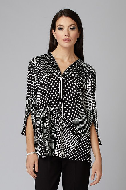 Joseph Ribkoff Tuniques Noir/Blanc Style 201478