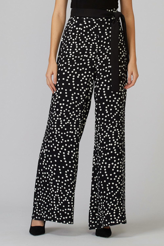 Joseph Ribkoff Pantalons Noir/Vanille Style 201486