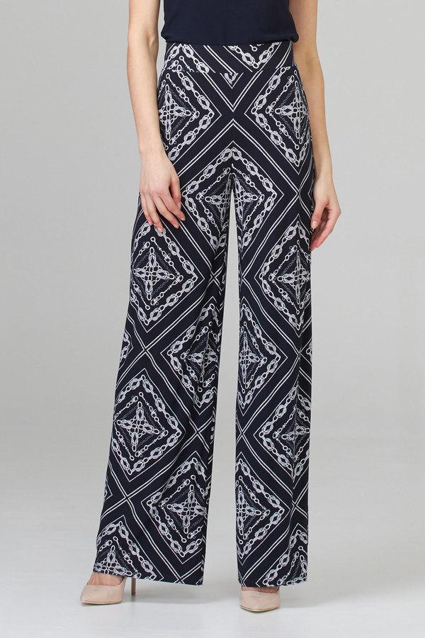 Joseph Ribkoff Vanilla/Midnight Blue Pants Style 201492