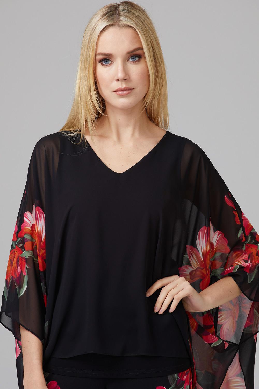 Joseph Ribkoff Black/Multi Shirts & Blouses Style 201496