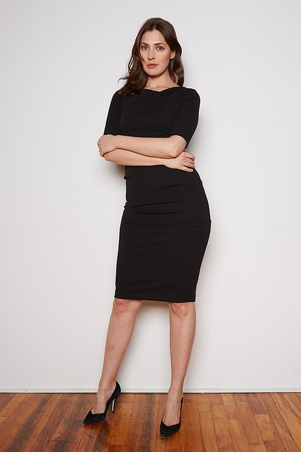 Joseph Ribkoff Black Dresses Style 201500