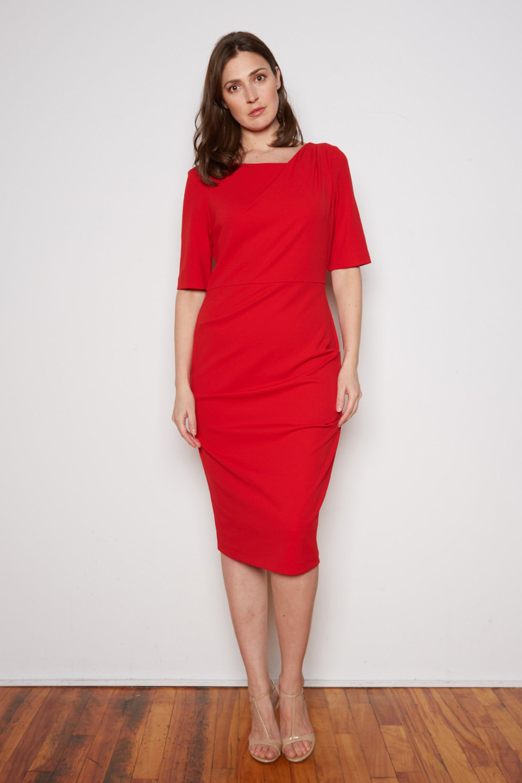 Joseph Ribkoff Lipstick Red 173 Dresses Style 201500