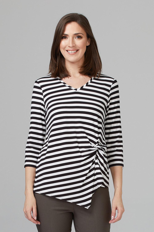 Joseph Ribkoff Tee-shirts et camisoles Noir/Blanc Style 201502