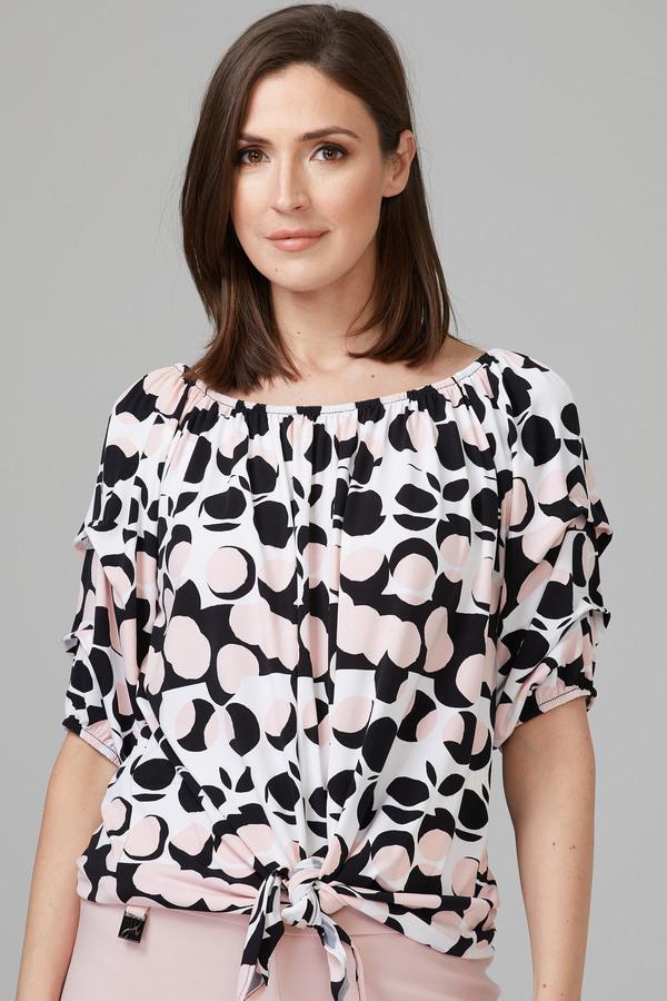 Joseph Ribkoff Chemises et blouses Vanille/Noir Style 201503