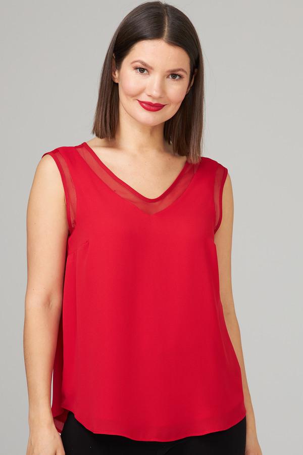 Joseph Ribkoff Lipstick Red 173 Tees & Camis Style 201513