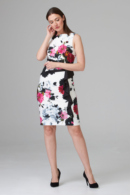 Joseph Ribkoff WHITE/MULTI Dresses Style 201518