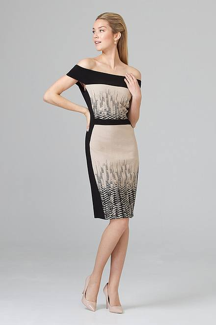 Joseph Ribkoff Black/Beige Dresses Style 201520