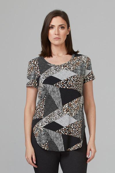 Joseph Ribkoff Black/Multi Tees & Camis Style 201523
