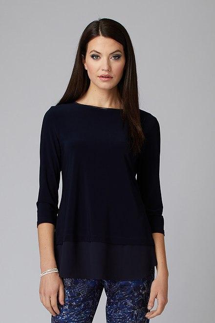 Joseph Ribkoff Tee-shirts et camisoles Bleu Minuit 40 Style 201534