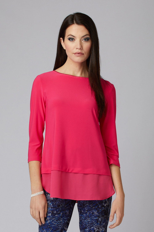 Joseph Ribkoff Tee-shirts et camisoles Rose Vif Style 201534