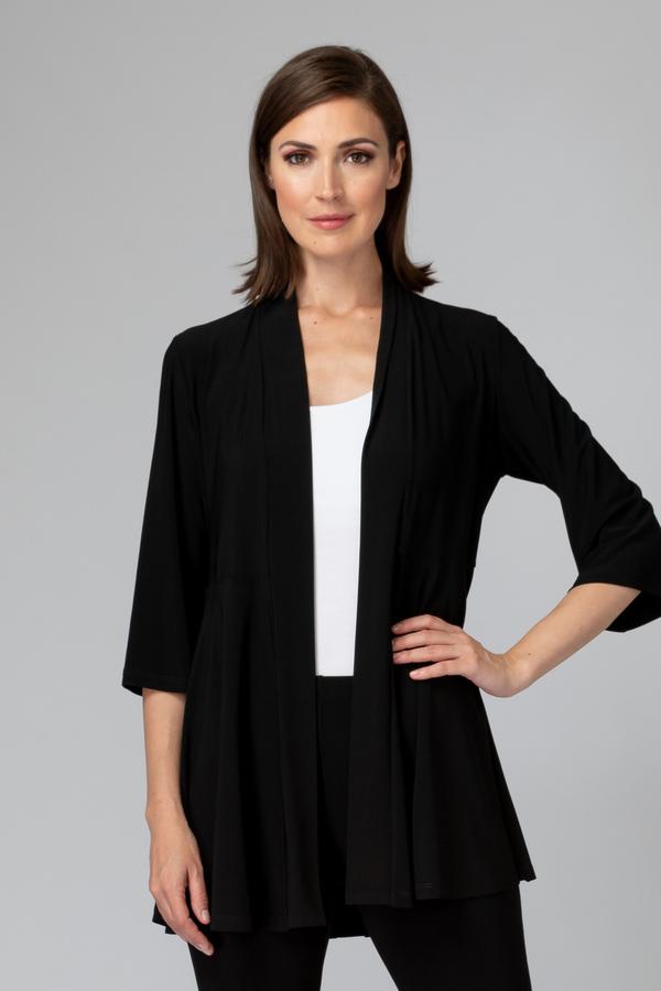 Joseph Ribkoff 3/4 Sleeve Open Front Cardigan Style 201547. Black