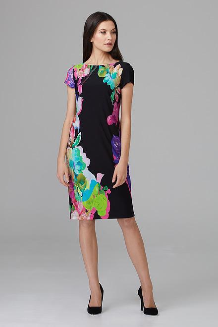 Joseph Ribkoff Black/Multi Dresses Style 201635