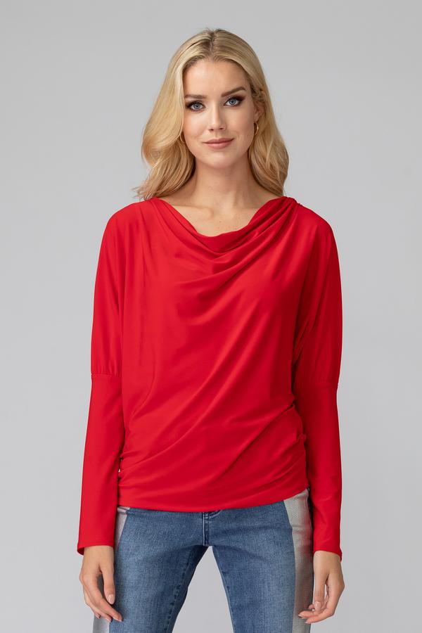 Joseph Ribkoff Lipstick Red 173 Shirts & Blouses Style 194113