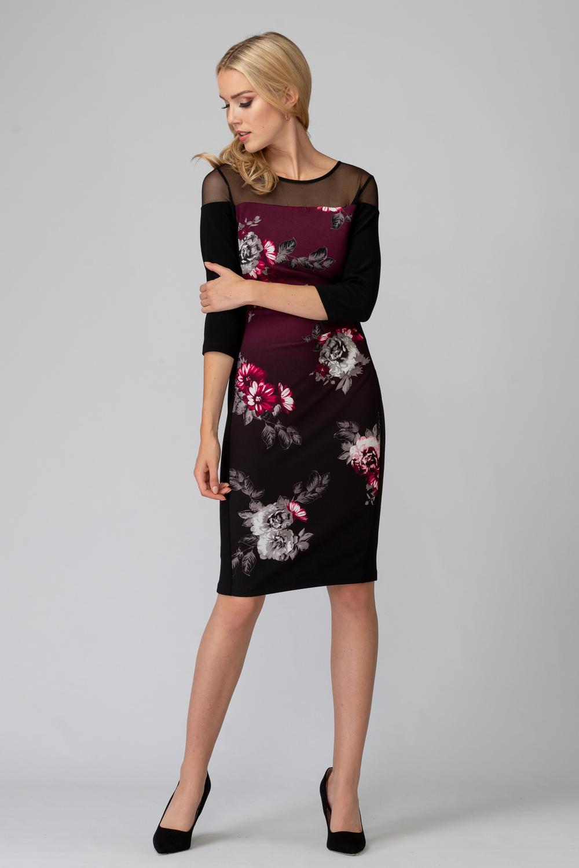 Joseph Ribkoff Black/Multi Dresses Style 194670