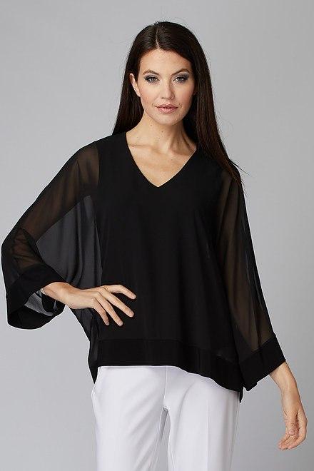 Joseph Ribkoff Black Shirts & Blouses Style 201086