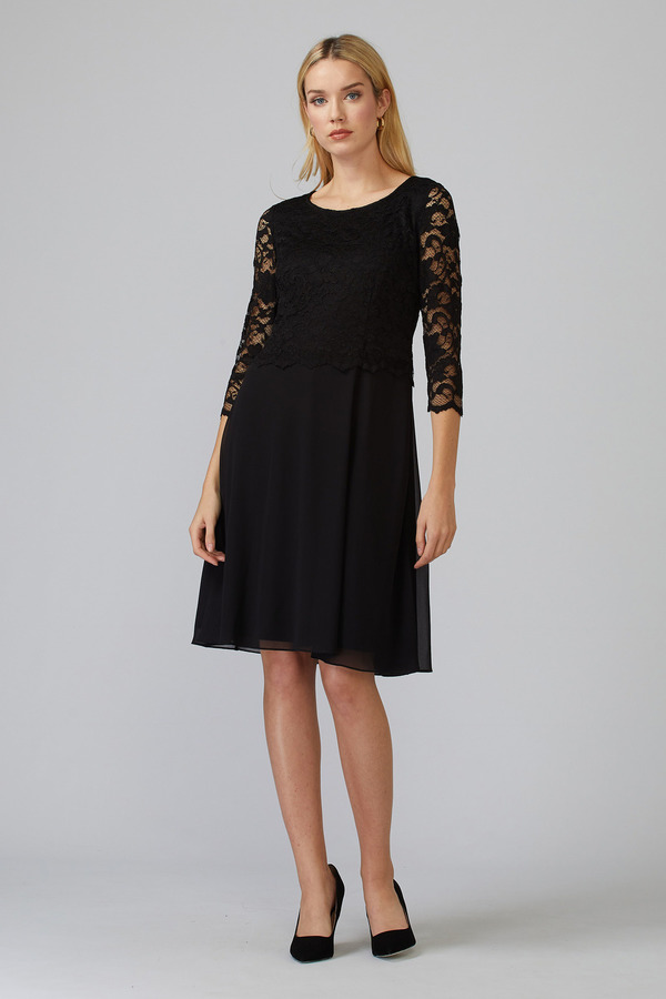 Joseph Ribkoff Black Dresses Style 193508