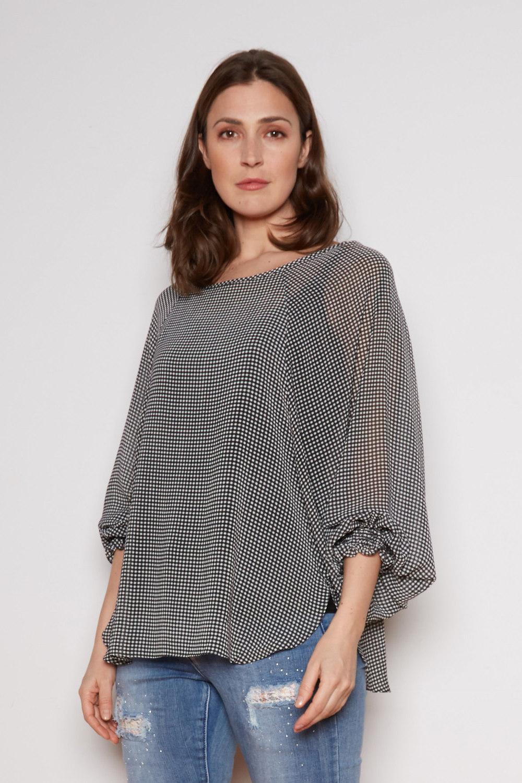 Joseph Ribkoff Chemises et blouses Noir/Blanc Style 202014