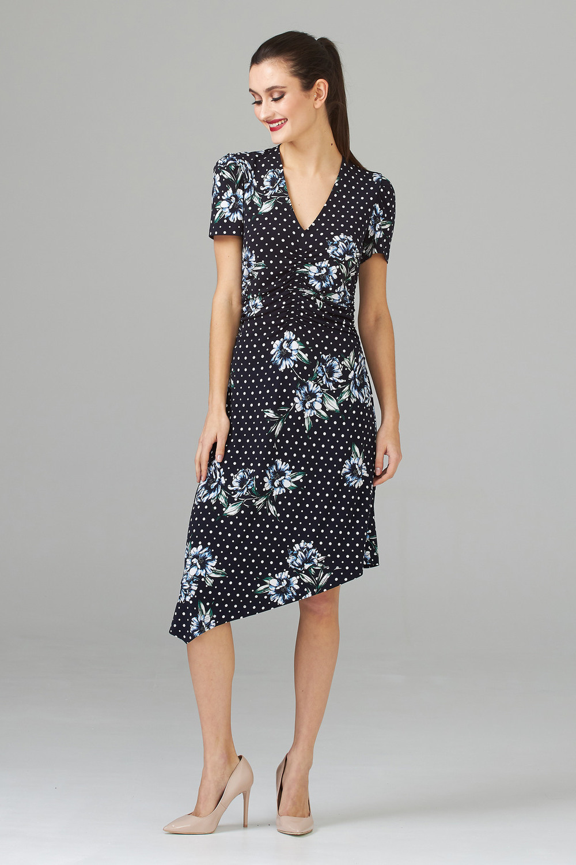Joseph Ribkoff Robes Bleu Minuit/Multi Style 202056