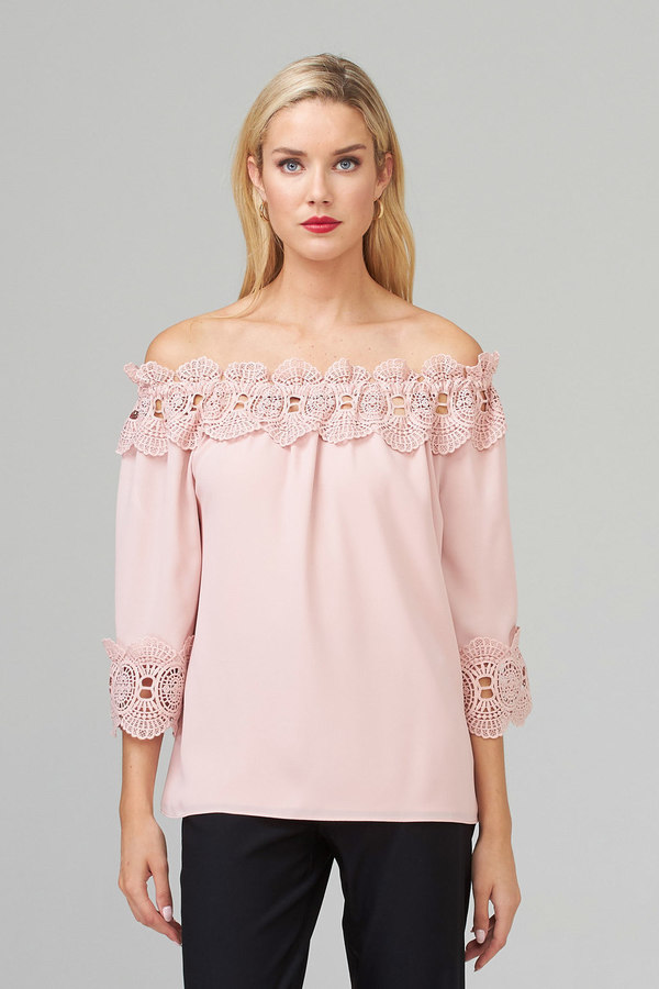 Joseph Ribkoff Rose Shirts & Blouses Style 202090