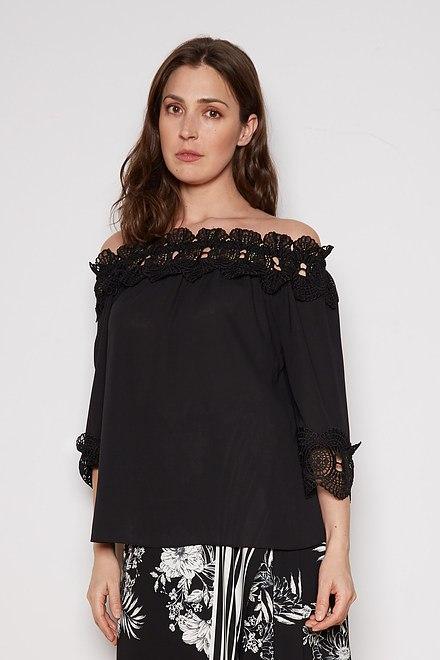 Joseph Ribkoff Black Shirts & Blouses Style 202090