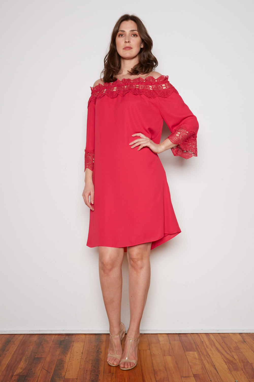 Joseph Ribkoff Cerise Dresses Style 202091