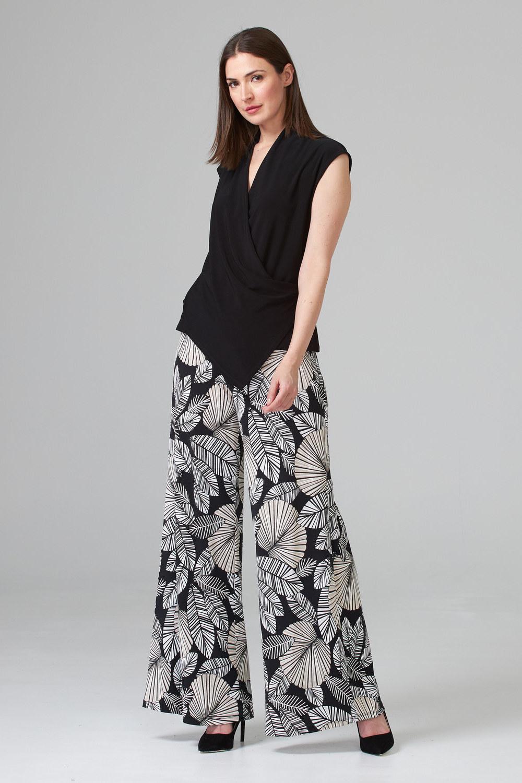 Joseph Ribkoff Black/Beige Pants Style 202101