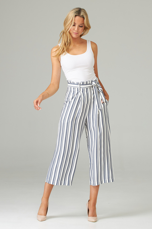 Joseph Ribkoff Pantalons Blanc cassé / bleu Style 202102