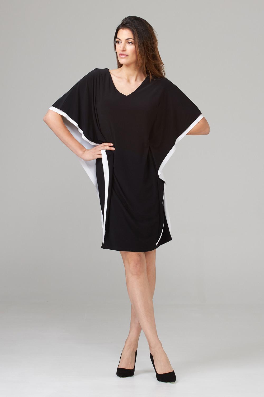 Joseph Ribkoff Robes Noir/Vanille Style 202124