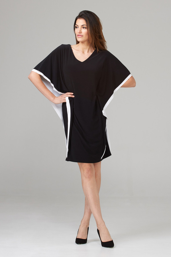 Joseph Ribkoff Black/Vanilla Dresses Style 202124