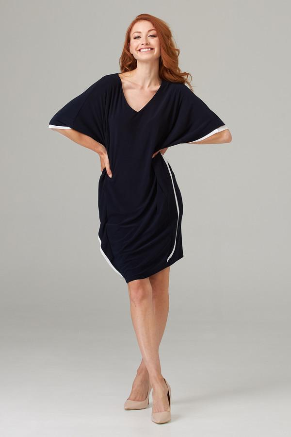 Joseph Ribkoff Midnight Blue/Vanilla Dresses Style 202124