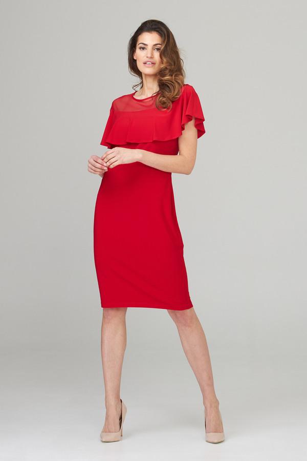 Joseph Ribkoff Lipstick Red 173 Dresses Style 202125