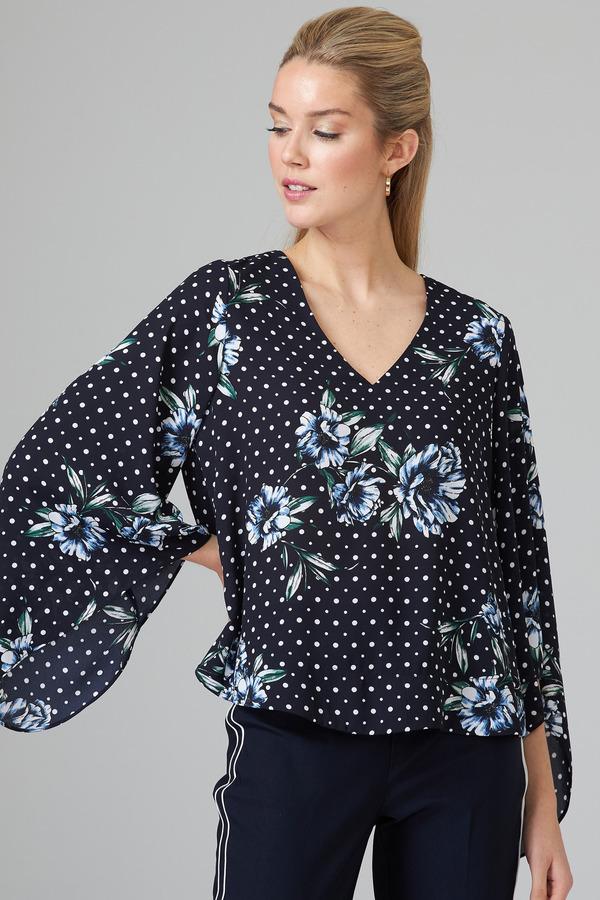 Joseph Ribkoff Chemises et blouses Bleu Minuit/Multi Style 202143