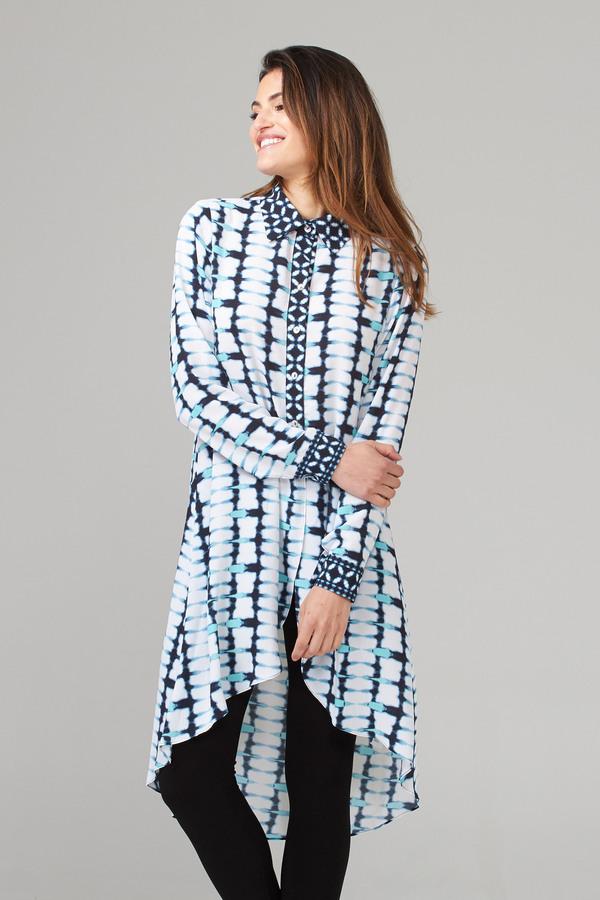 Joseph Ribkoff Tuniques Vanille/Bleu Minuit Style 202177