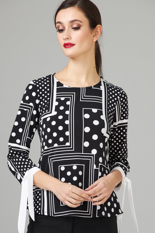 Joseph Ribkoff Black/Vanilla Shirts & Blouses Style 202183