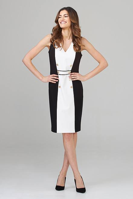 Joseph Ribkoff Black/Vanilla Dresses Style 202208