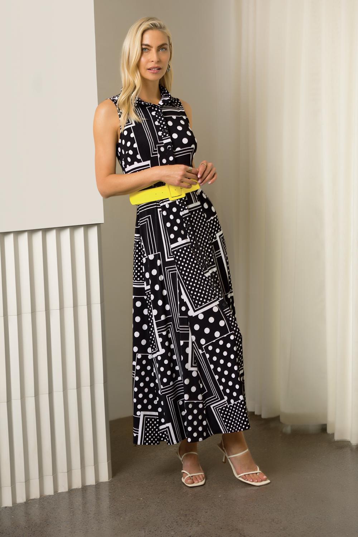 Joseph Ribkoff Black/Vanilla Dresses Style 202210