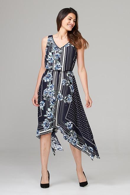 Joseph Ribkoff Robes Bleu Minuit/Multi Style 202231