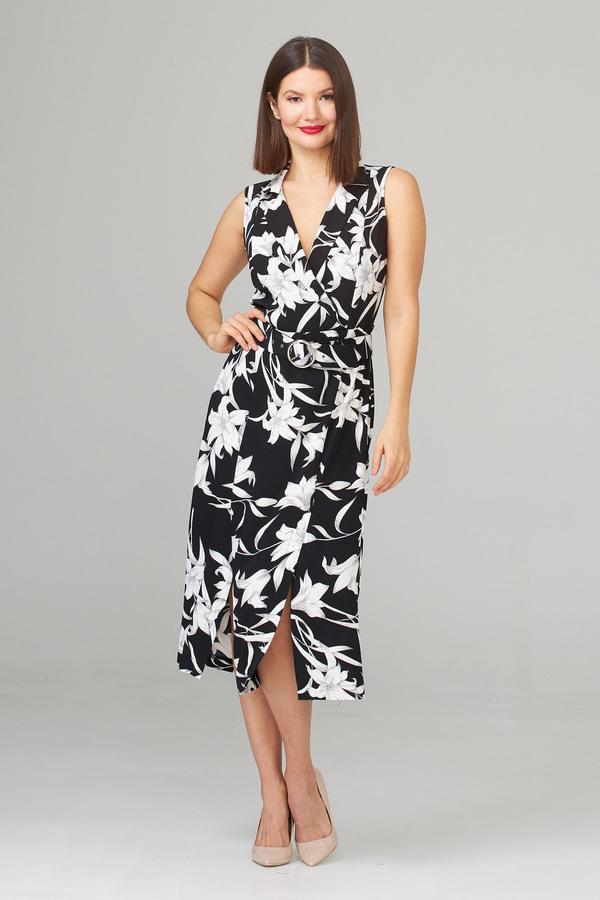 Joseph Ribkoff Black/Vanilla Dresses Style 202234