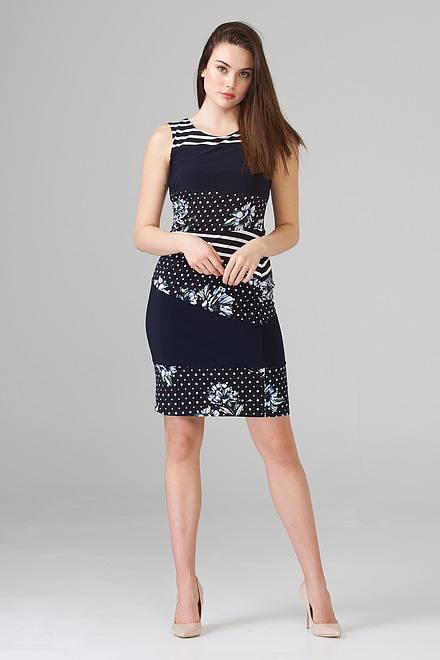 Joseph Ribkoff Midnight Blue/Multi Dresses Style 202250