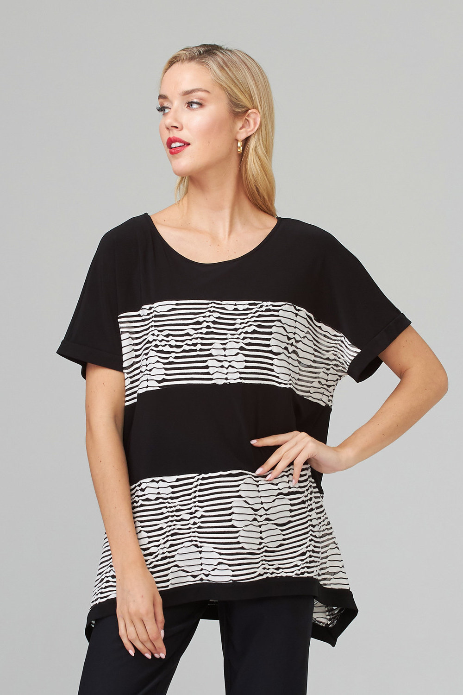 Joseph Ribkoff Chemises et blouses Noir/Ecru Style 202285